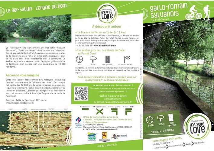 Randonnée Une autre Loire : Le Gallo-romain sylvanois au Fief Sauvin