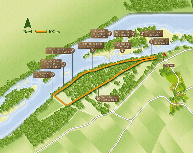 Plan sentier de découverte des isles