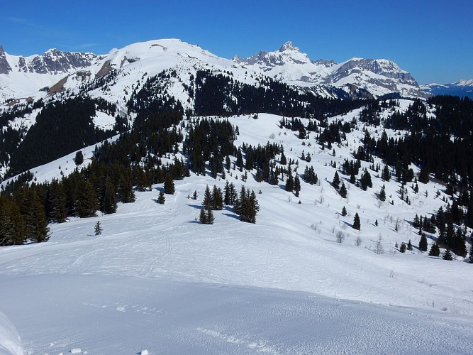 Snowshoes itinerary Christomet / Jaillet
