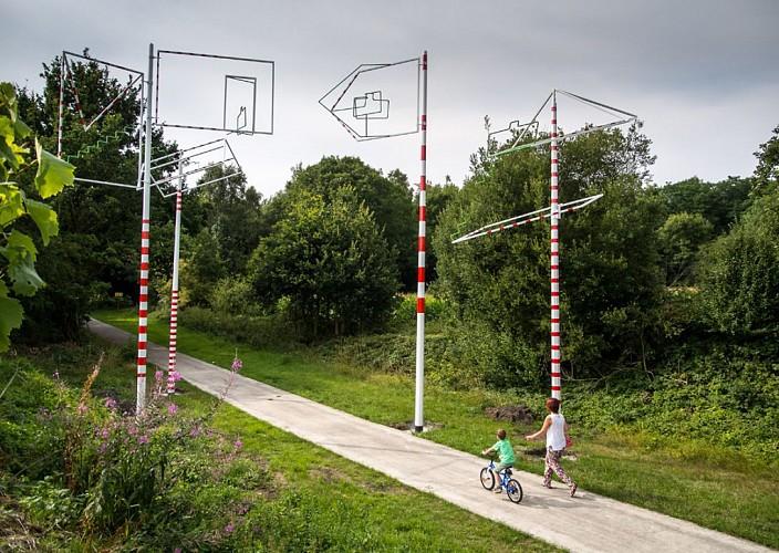 Sur le RAVeL artistique du Borinage (L98), entre le PASS et le Grand-Hornu / Hainaut