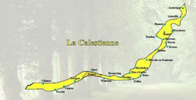 LA TRANSCALESTIENNE: De Fraipont au Musée du marbre à Rance (itinéraire global)