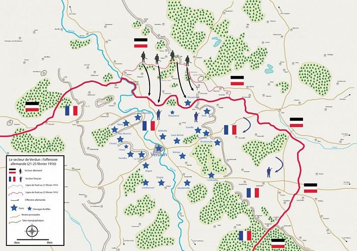 carte de la bataille de verdun 1914 1918 Bataille de Verdun Porte clé Borne Voie Sacrée