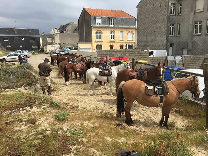 De La Haie Penée à Fort Mahon à cheval
