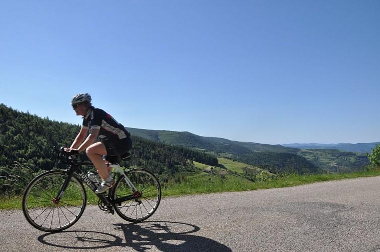 """Parcours cyclotouristique """"Tour du Haut Vivarais"""""""