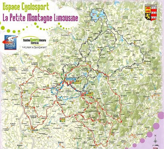Parcours n°1, Espace Cyclosport La Petite Montagne Limousine