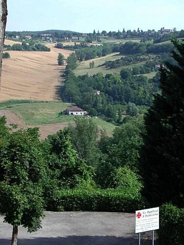 Clermont-Dessous / Bazens, panoramas sur la vallée de la Garonne