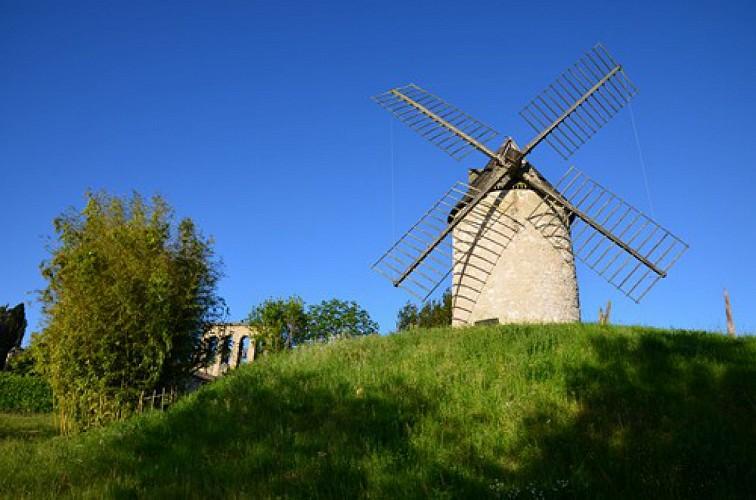 Tourtrès, du pech du moulin à vent au bois de Verteuil