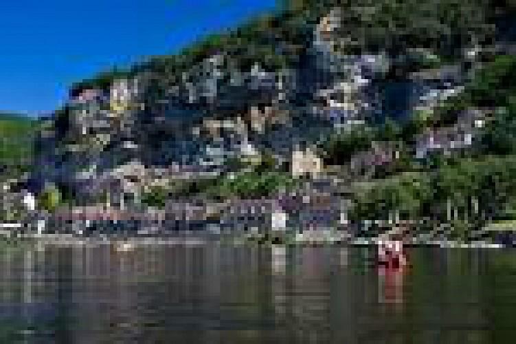 Boucle des Gabares. La Roque-Gageac. Plus beaux villages de France