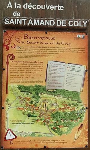 Itinéraire de St Amand de Coly-Plus Beaux Villages de France