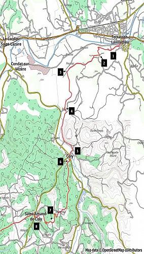 Dans les pas des Hommes de Lascaux Etape1: Terrasson-St Amand de Coly