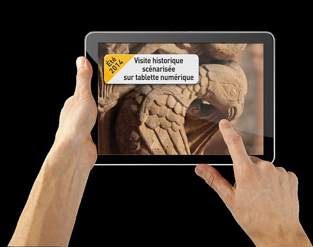 Visite de Saint Sever sur tablette numérique