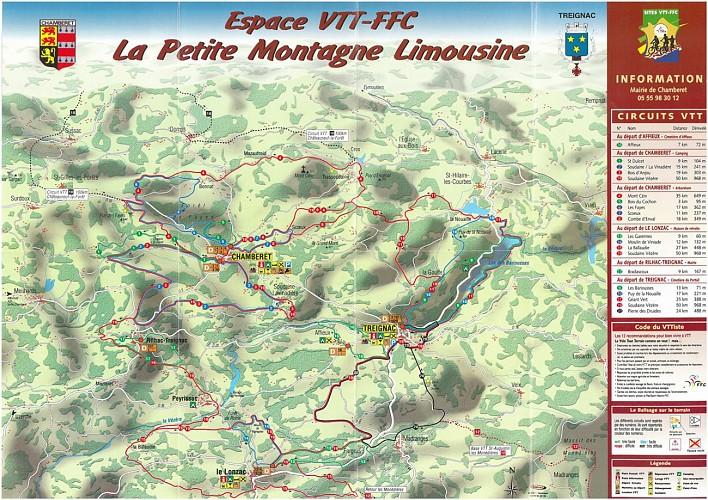Circuit n°8 Combe d'Enval - Espace VTT-FFC La Petite Montagne Limousine