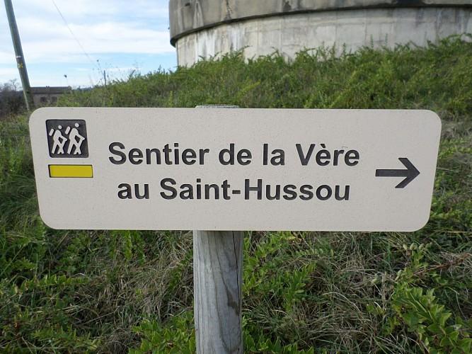 Chemin de la Vère au Saint-Hussou