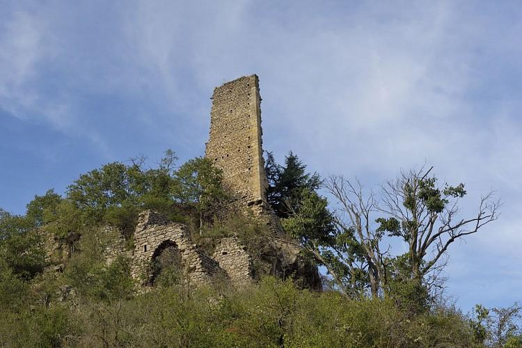 Les vestiges de la Tour d'Oriol