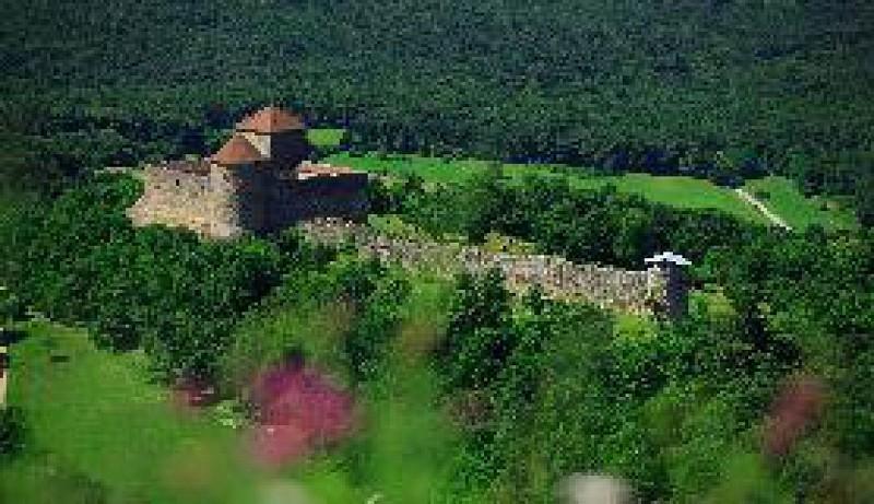 Chateau des Allymes depuis le Mont Luisandre