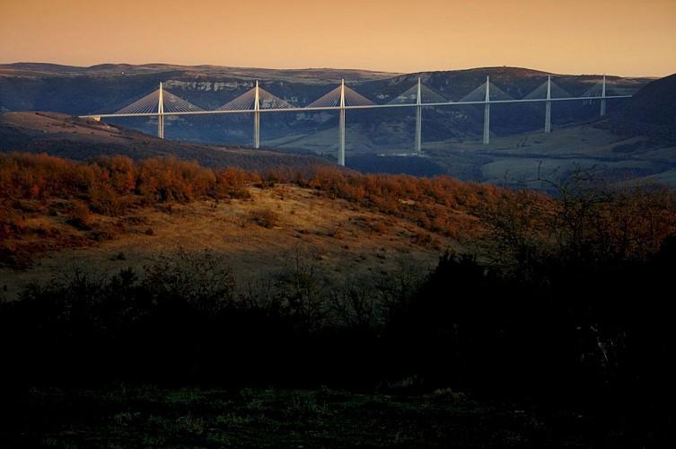 Viaduc de Millau depuis Navas