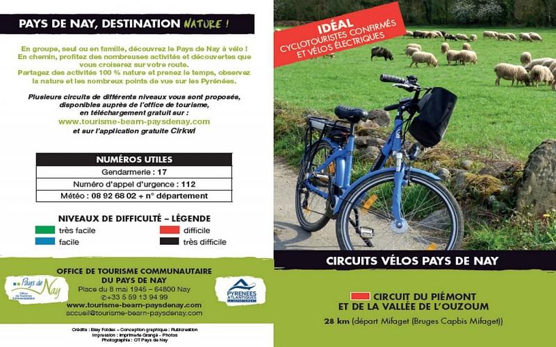 Circuit vélo 8 : Circuit du Piémont et de la Vallée de l'Ouzoum