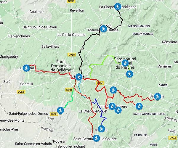 Le chemin de l'Enfer à Mauves-sur-Huisne