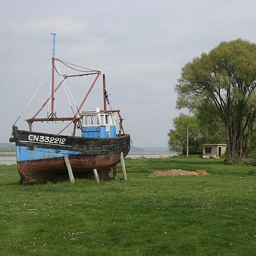 Panneau pédagogique Réserve Naturelle de l'Estuaire de la Seine