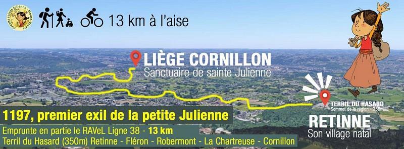 Le premier exil de la petite Julienne, du terril du Hasard à Retinne au sanctuaire de Cornillon