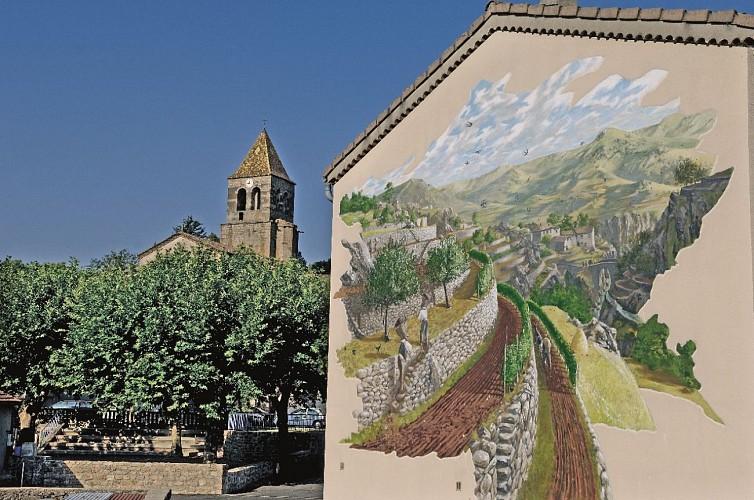 Meyras Neyrac-les-Bains, entre fresques et thermes