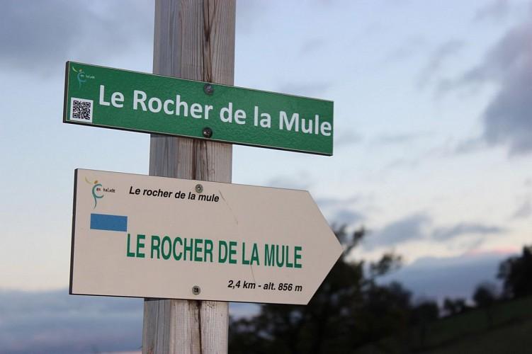 Le Rocher de la Mule à Raulhac