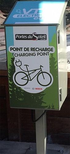 Charging station electric bike - Col de Braitaz