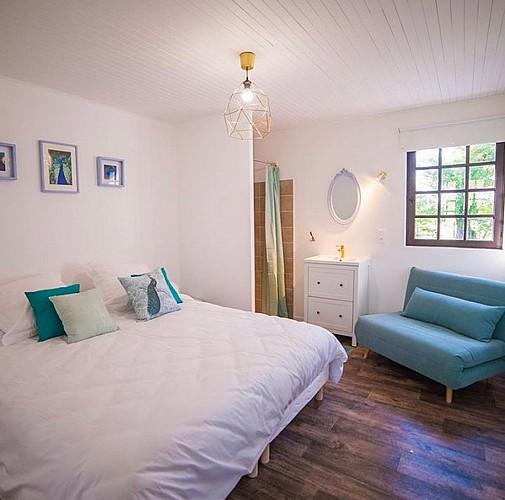 Chambre bleue - Domaine de Bouhemy