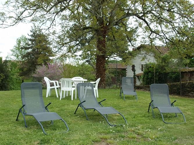 Jardin du Gîte Matigouach avec Gites de France Landes