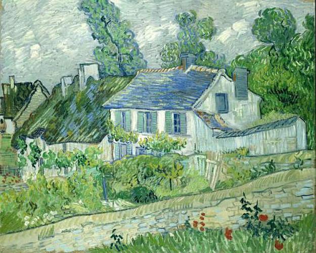 Van Gogh - Maisons d'Auvers et les Chaumes du Gré