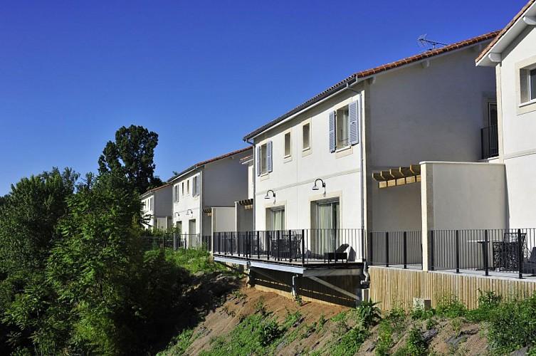 Villeneuve-sur-Lot - Le Moulin de Madame - chambres côté Lot