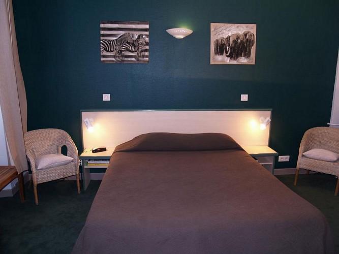 Hôtel Central - Pau - Chambre double grise