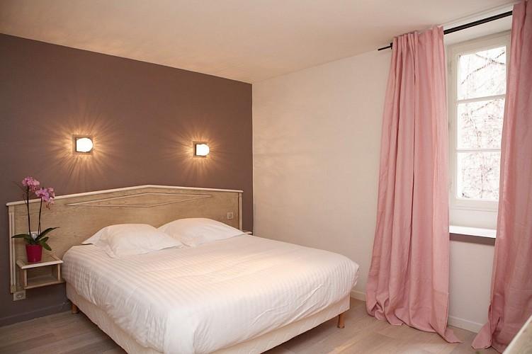 Hôtel Roncevaux - Pau - Chambre double rose