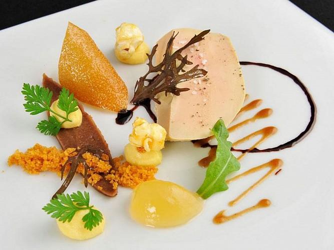 Hôtel Les Pyrénées - foie gras poché - Saint Jean Pied de Port