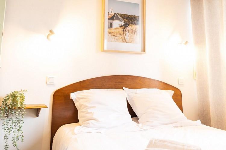 Hôtel & Bistrot Fine - chambre-double-tête-de-lit