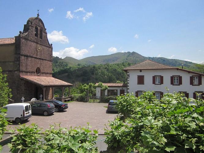 Hôtel Barberaenea -  vue village - Bidarray