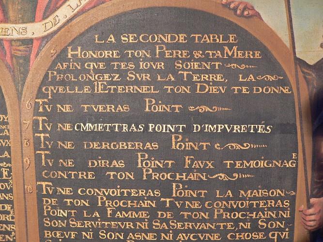 Détail du décalogue © Conservation départementale du Loiret