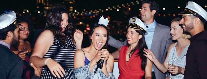 Croisière festive de nuit avec DJ à bord- New York