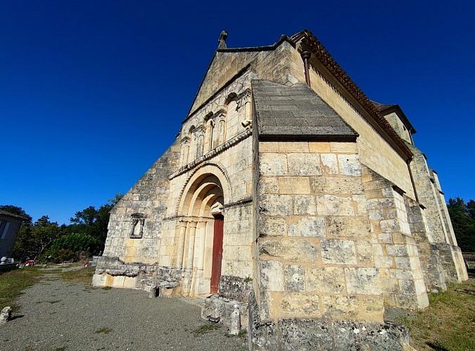 Façade et portail de l'église Sainte-Colombe - Sainte-Colombe
