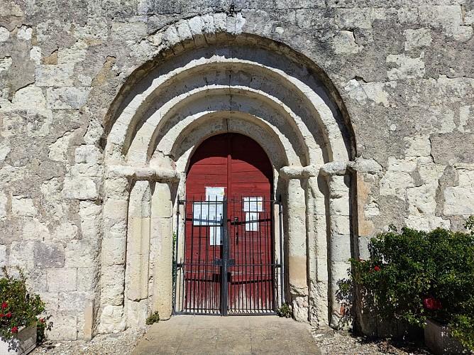 Portail de l'église Saint-Vincent - Pessac-sur-Dordogne