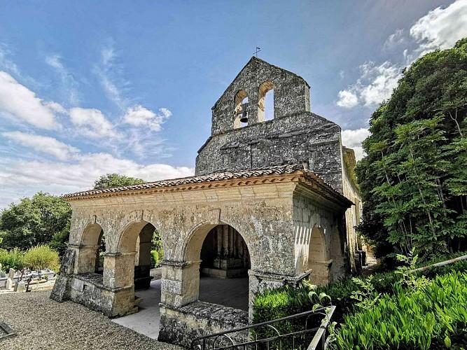 Façade et porche de l'église Sainte-Florence - Sainte-Florence