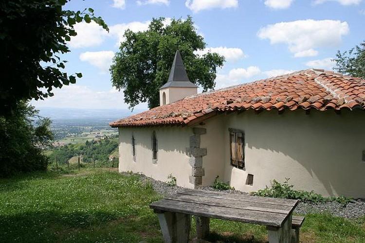 Vue sur la plaine du Forez, de la chapelle