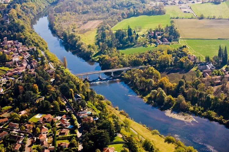Vue sur le fleuve Loire, de Veauche