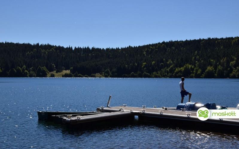 Un lac dont le niveau a varié