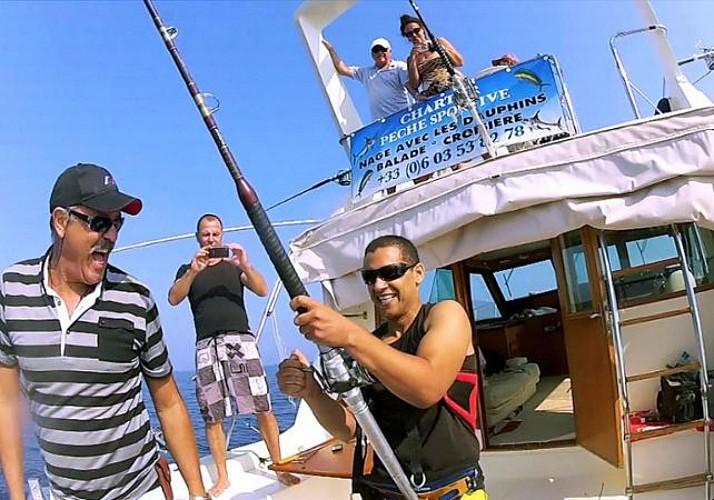 Pêche sportive en Méditerranée - Au départ d'Antibes