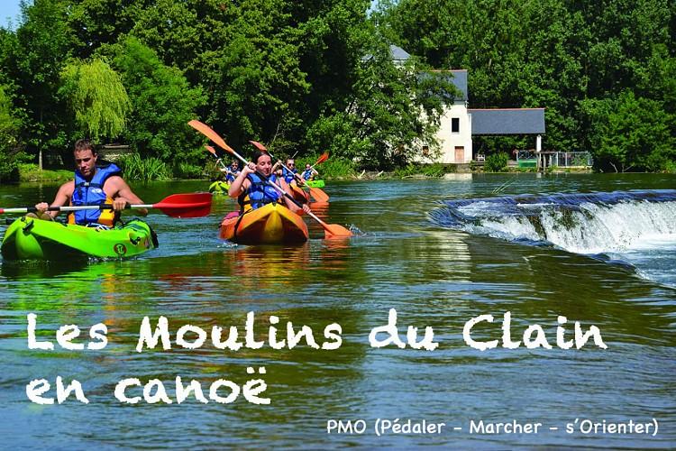 Les Moulins du Clain en Canoë