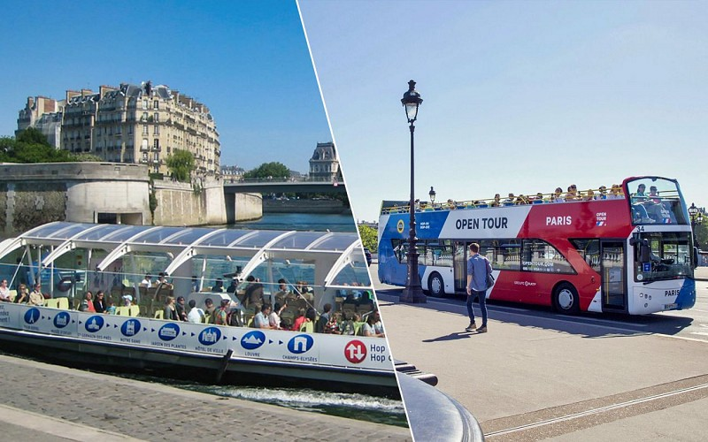 Open Tour Paris: 2 or 3 Day Hop-On-Hop-Off Bus + Batobus Cruise