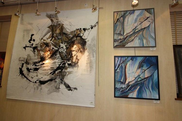 Exposition de lithographies de peintres contemporains