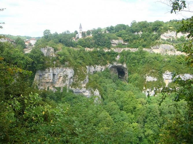 Grotte et reculée de Corveissiat, ENS de l'Ain