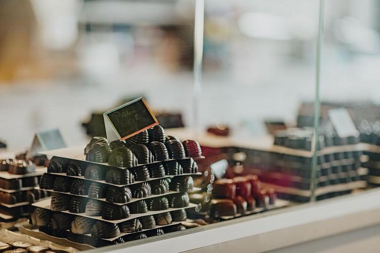 Pralines et chocolats à la chocolaterie Vanlieff's à Walcourt